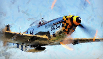 Painting - P-51 Mustang - 19 by Andrea Mazzocchetti
