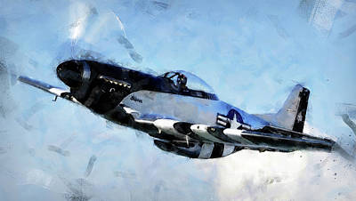 Painting - P-51 Mustang - 20 by Andrea Mazzocchetti