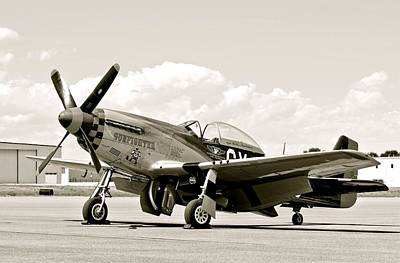 Photograph - P-51 Mustang Airplane by Amy McDaniel