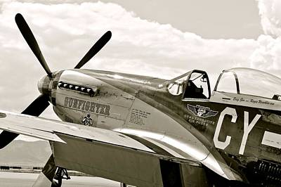 Photograph - P-51 Mustang Fighter Plane by Amy McDaniel