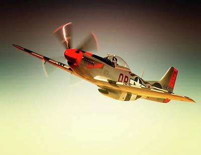 P-51 Mustang Man O War Original by Gus McCrea