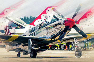 Photograph - P-51 Mustang Named Betty Jane by Rene Triay Photography