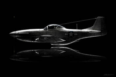 Digital Art - P-51 Mustang Profile by David Collins
