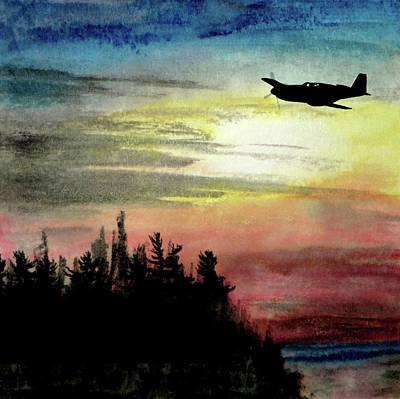 Mixed Media - P-51b Razorback by R Kyllo
