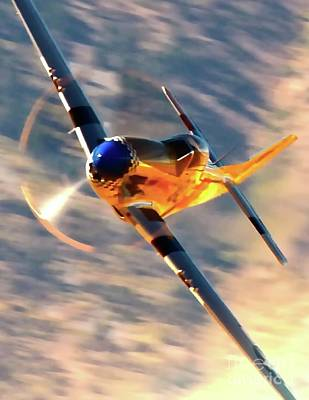 Reno Air Races Photograph - P-51d Grim Reaper And Dan Martin by Gus McCrea