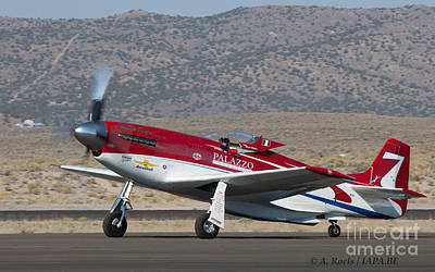Photograph - P-51strega Winner Of The 2008 Unlimited Reno Air Races With  Bill  -tiger- Destefani At The Controls by Antoine Roels