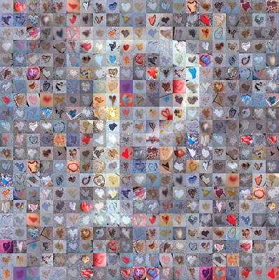 Digital Art - P In Confetti by Boy Sees Hearts