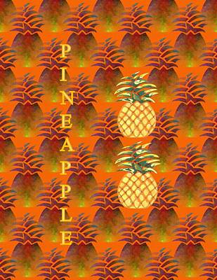 Pineapple Mixed Media - P Is For Pineapple by Kathleen Sartoris
