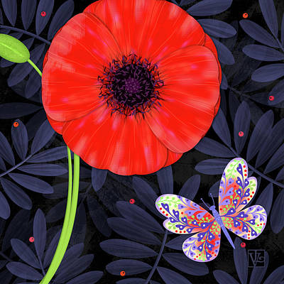 P Is For Pretty Poppy Art Print