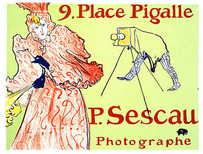 Vintage Camera Mixed Media - P Sescau Photographe - Paul Sescau - Vintage Advertising Poster By Henri De Toulouse Lautrec - Paris by Studio Grafiikka