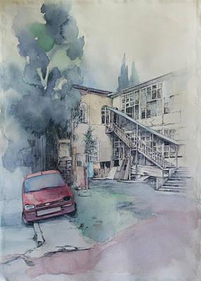 Tbilisi Drawing - P. Tchaikovsky Str. by Anastasia Logvinenko
