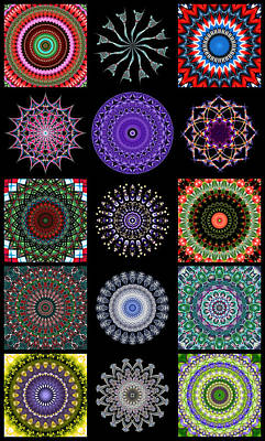 Digital Art - Kaleidoscope Patchwork 2 by Wendy Wilton