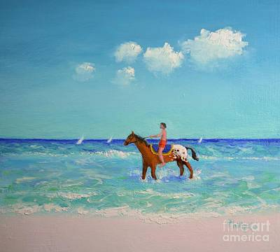 Horses In The Ocean Painting - Indian Summer by Philip Jones
