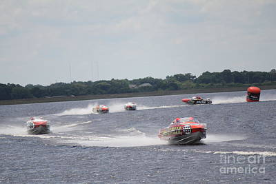 Photograph - P1 Powerboats Orlando 2016 by David Grant