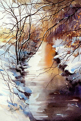 Painting -   Running Hot And Cold by Art Scholz