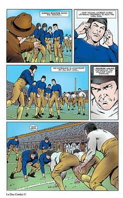 P.2 Gridiron The Beginning Art Print by Greg Le Duc Ron Randall