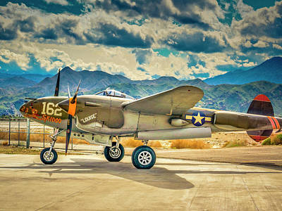 Photograph - P38 Fly In by Sandra Selle Rodriguez