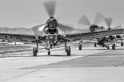 Photograph - P40 Warhawk At Hollister Airshow by John King