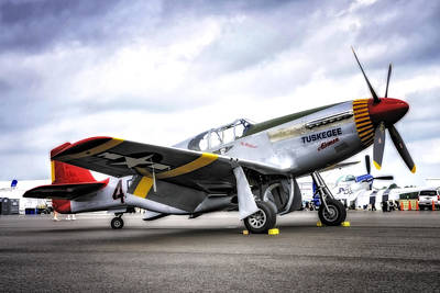 Photograph - P51-c Mustang In Hdr by Michael White