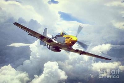 P-51 Mustang Digital Art - P51 Mustang - Frankie by J Biggadike