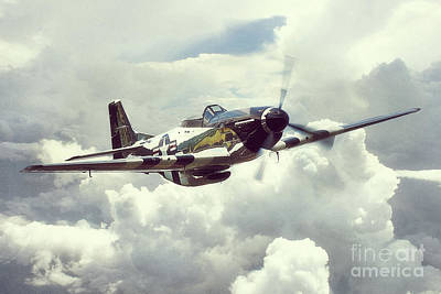 North American P51 Mustang Digital Art - P51 Mustang - Quick Silver by J Biggadike