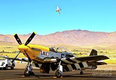 P51 Mustangs Lou Iv And Strega 2010 Reno Air Races Original by Gus McCrea