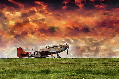 Photograph - P51 Warbird by Cliff Norton