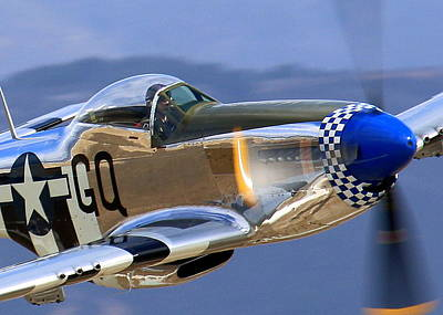 Photograph - P51d Mustang At Salinas by John King