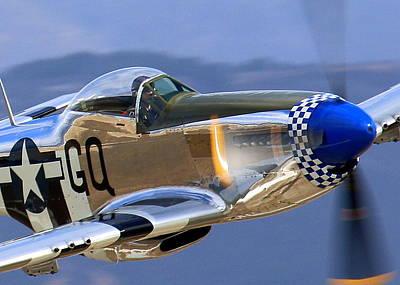 Photograph - P51d Mustang At Salinas by John King