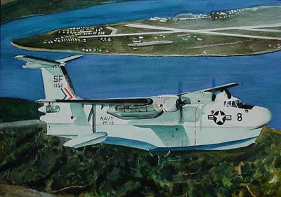 P5m Over North Island Art Print by Dwight Williams