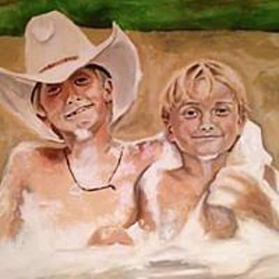 Painting - Pa And Bb by Sarah LaRose Kane