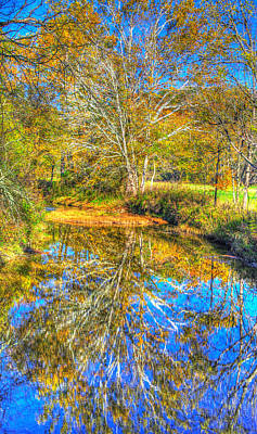 Photograph - Pa Country Roads - Autumn Colorfest In The Creek No. 1 - Buffalo Creek, Washington County by Michael Mazaika