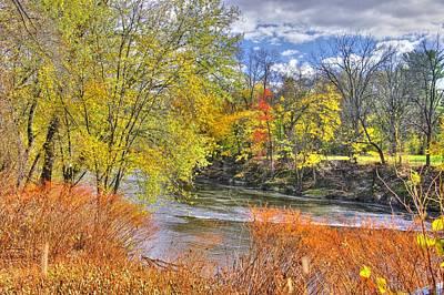 Montour Photograph - Pa Country Roads - Autumn Colorfest No. 1 - Along Fishing Creek Near Rupert Columbia County by Michael Mazaika