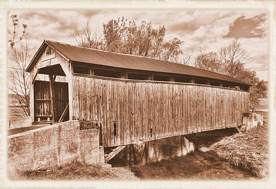 Photograph - Pa Country Roads - Kochenderfer Covered Bridge Over Big Buffalo Creek No. 1as-alt - Perry County by Michael Mazaika
