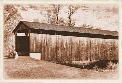 Photograph - Pa Country Roads - Larkin Covered Bridge, Village Of Eagle Near Milford Mills No. 9as - Chester Co. by Michael Mazaika