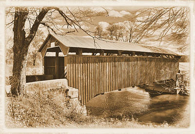 Montour Photograph - Pa Country Roads - Sam Wagner Covered Bridge Chillisquaque Creek #8s Northumberland Montour Counties by Michael Mazaika