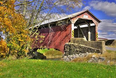 Montour Photograph - Pa Country Roads - Sam Wagner Covered Bridge Over Chillisquaque Creek No. 2 by Michael Mazaika