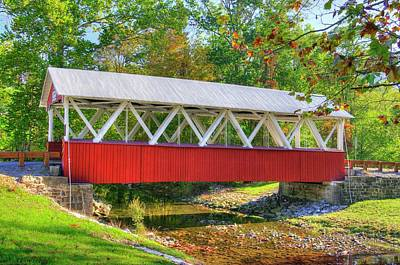 Photograph - Pa Country Roads - St. Mary's Covered Bridge Over Shade Creek No. 4 - Huntingdon County by Michael Mazaika
