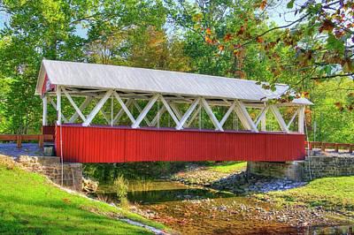 Photograph - Pa Country Roads - St. Mary's Covered Bridge Over Shade Creek No. 4 - Huntingdon County by Michael Mazaika