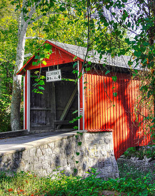 Franklin Township Photograph - Pa Country Roads - Witherspoon Covered Bridge Over Licking Creek No. 3 - Franklin County by Michael Mazaika