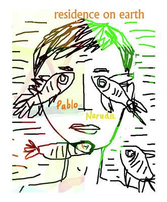 Pablo Neruda Poster  Art Print