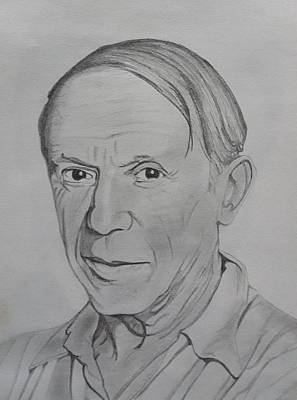 Sketches Etc Drawing - Pablo Picasso by Premnath Mohan