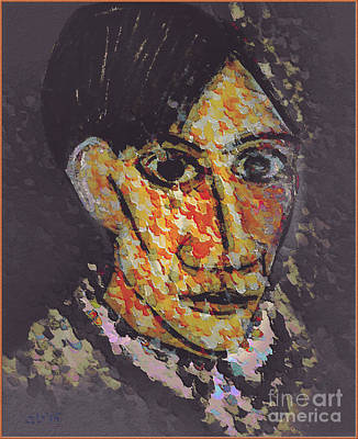 Famous People Mixed Media - Pablo Picasso Portrait by Ante Barisic