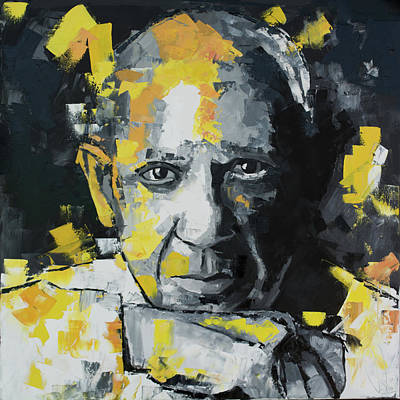 Different Colours Painting - Pablo Picasso Portrait by Richard Day