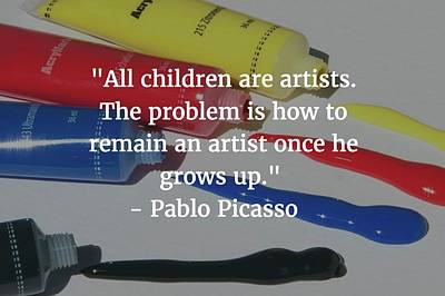 Photograph - Pablo Picasso Quote by Matt Create