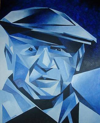 Pablo Picasso The Blue Period Art Print by Tracey Harrington-Simpson