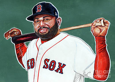 Pablo Drawing - Pablo Sandoval by Dave Olsen