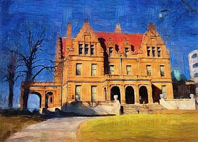 Digital Art - Pabst Mansion by Anita Burgermeister