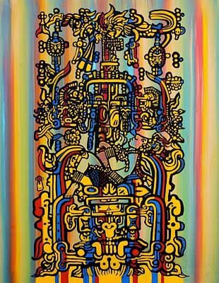 Mayan Painting - Pacal Votan by Heather Caulfield