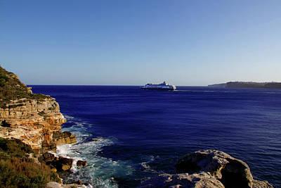 Photograph - Pacific Aria Leaving Sydney by Miroslava Jurcik